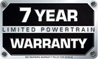 7 year warranty on select models