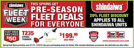 shindaiwa fleet week sale flyer