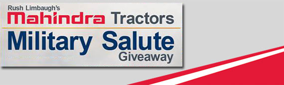 Mahindra USA and Rush Limbaugh Salute Military