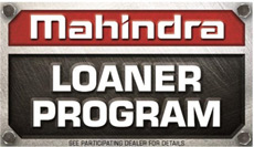 Mahindra loaner program logo
